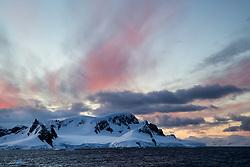 sunset, Wilhemina Bay, Antarctica