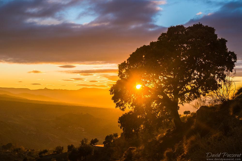 Sunset over Monachil valley.