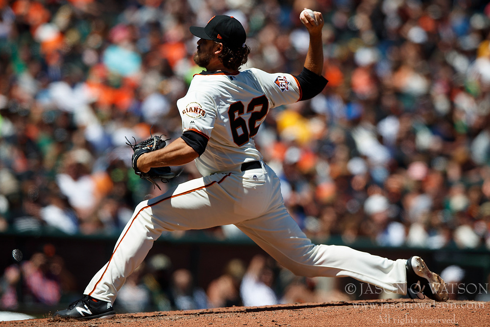 SAN FRANCISCO, CA - JULY 15: Ray Black #62 of the San Francisco Giants pitches against the Oakland Athletics during the seventh inning at AT&T Park on July 15, 2018 in San Francisco, California. The Oakland Athletics defeated the San Francisco Giants 6-2. (Photo by Jason O. Watson/Getty Images) *** Local Caption *** Ray Black