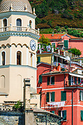 Santa Margherita di Antiochia Church and houses, Vernazza, Cinque Terre, Liguria, Italy