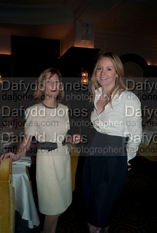 ANNA CARTER, KATE REARDON,, Graydon and Anna Carter host a lunch for Carolina Herrera to celebrate the ipening of her new shop on Mount St. .The Connaught. London. 20 January 2010
