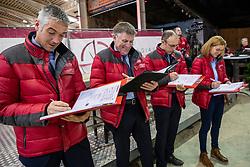 Keurinscommissie springen, Tim Van Tricht, Herman Van den Broeck, Stefaan De Smet, Inge Meurrens<br /> BWP Hengsten Keuring - Lier 2020<br /> © Hippo Foto - Dirk Caremans<br /> 16/01/2020