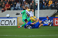 GOAL Ian Henderson makes it 2-0 during the EFL Sky Bet League 1 match between Rochdale and Gillingham at Spotland, Rochdale, England on 15 September 2018.