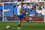 Cardiff City forward Kieffer More (10) during the pre-match warm-up at the EFL Sky Bet Championship match between Cardiff City and Bristol City at the Cardiff City Stadium, Cardiff, Wales on 28 August 2021.