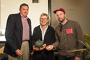 Anthony and Carol Boutard of Ayers Creek Farm with Joshua McFadden of Ava Genes. McFadden create a melon salad with the Boutard's Ava Bruma Winter Melon.