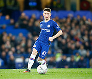 Chelsea's Billy Gilmour  in action during the English FA Cup fifth round soccer match between Chelsea and Liverpool at Stanford Bridge Stadium, Wednesday, March 3, 2020, in London, United Kingdom. (ESPA-Images/Image of Sport)