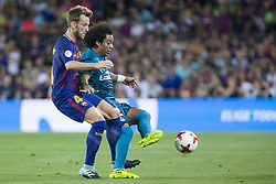 August 13, 2017 - Barcelona, Spain - Marcelo and Ivan Rakitic during the match between FC Barcelona - Real Madrid, for the first leg of the Spanish Supercup, held at Camp Nou Stadium on 13th August 2017 in Barcelona, Spain. (Credit: Urbanandsport / NurPhoto) (Credit Image: © Urbanandsport/NurPhoto via ZUMA Press)