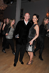 HARRY NUTTALL and his wife DALIT at the Whitechapel Gallery Art Plus Opera gala in association with Swarovski held at the Whitechapel Gallery, London on 15th March 2012.