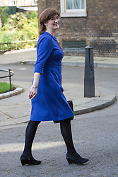 © Licensed to London News Pictures. 09/04/2014. London, UK. Nicky Morgan leaves Downing Street, London on 9th April 2014. Photo credit : Vickie Flores/LNP