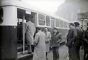 bus stop France 1950s