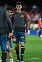 March 23, 2019 - Valencia, Valencia, Spain - Mata of Spain in action during European Qualifiers championship, , football match between Spain and Norway, March 23th, in Mestalla Stadium in Valencia, Spain. (Credit Image: © AFP7 via ZUMA Wire)