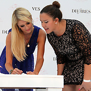 U.S. heiress, actress and singer Paris HILTON poses with fans during a presentation in Istanbul, on September 22, 2011. Hilton is in Istanbul for the launch of her new shoe line with partner Antebi Footwear. ATTENTION Denmark, Sweden, Norway, Baltic Countries and Japan OUT. Photo by TURKPIX