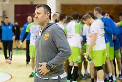 Ivica Obrvan, head coach of F.Y.R. Macedonia during friendly handball match between National Teams of Slovenia and F.Y.R. of Macedonia before EHF EURO 2016 in Poland on January 4, 2015 in Sports hall Krsko, Krsko, Slovenia. Photo by Urban Urbanc / Sportida