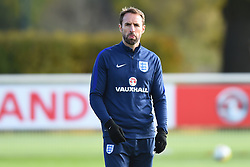 November 13, 2017 - Enfield, Greater London, United Kingdom - England Manager Gareth Southgate keeps a watchful eye during a England training session ahead of the International Friendly match against Brazil at Tottenham Hotspur Training centre on 13 Nov , 2017 in Enfield, England. (Credit Image: © Kieran Galvin/NurPhoto via ZUMA Press)