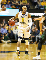 Jan 9, 2018; Morgantown, WV, USA; West Virginia Mountaineers guard Jevon Carter (2) dribbles the ball during the second half against the Baylor Bears at WVU Coliseum. Mandatory Credit: Ben Queen-USA TODAY Sports