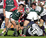 Leicester, 13th September 2003, Zurich Premiership Rugby,  Welford Road, <br /> [Mandatory Credit; Peter Spurrier/Intersport Images]<br /> Zurich Premiership Rugby - Leicester Tigers v London Irish.<br /> Tigers scrum half Harry Ellis