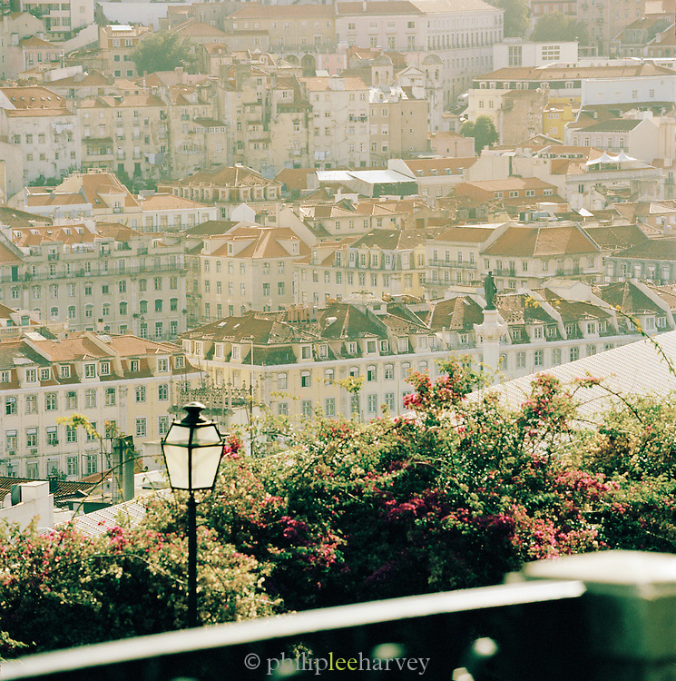A housing district in downtown Lisbon, Portugal