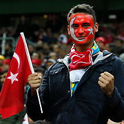 Turkey's supporters during their UEFA Euro 2016 qualification Group A soccer match Turkey betwen Kazakhstan at AliSamiYen Arena in Istanbul November 16, 2014. Photo by Kurtulus YILMAZ/TURKPIX