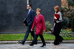 © Licensed to London News Pictures. 19/12/2018. London, UK. First Minister of Scotland Nicola Sturgeon arrives in Downing Street for meetings with British Prime Minister Theresa May. Photo credit : Tom Nicholson/LNP