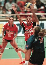 18-10-1998 VOLLEYBAL: NEDERLAND - ITALIE: ARNHEM<br /> Chaine Staelens<br /> ©1998-WWW.FOTOHOOGENDOORN.NL