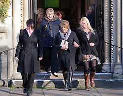 © Licensed to London News Pictures. 19/12/2014. Bristol, Avon, UK. People attending the funeral of Charlotte and Zaani Tiana Bevan, the mother and daughter who were found dead in Avon Gorge after leaving a St. Michael's Hospital in Bristol on 2nd December 2014. Photo credit : Rob Arnold/LNP