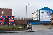 A staunch unionist area. Shankhill Road estate, Belfast. It is a staunch unionist area, fiercely pro-Britain. Their representatives, the Democratic Unionist Party, founded by Ian Paisley in 1971, are presently in parliament in collusion with the conservative party, looking for a hard Brexit with a border between Northern Ireland and the South. The ten DUP votes gives the conservative party its majority in government. This is nothing new. During the 'Troubles' three decades of bloodshed, with Catholic Irish Republican Nationalists seeking to unit Ireland, the pro-British Protestant loyalists wanted to remain part of the United Kingdom