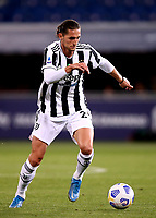 BOLOGNA, ITALY - MAY 23: Adrien Rabiot of Juventus FC in action ,during the Serie A match between Bologna FC and Juventus FC at Stadio Renato Dall'Ara on May 23, 2021 in Bologna, Italy.(Photo by MB Media/Getty Images)