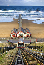 July 21, 2019 - Tram Tracks Leading To Beach, Saltburn, North Yorkshire, England (Credit Image: © John Short/Design Pics via ZUMA Wire)
