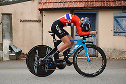 Katrine Aalerud (NOR) at the 2020 UEC Road European Championships - Elite Women ITT, a 25.6 km individual time trial in Plouay, France on August 24, 2020. Photo by Sean Robinson/velofocus.com