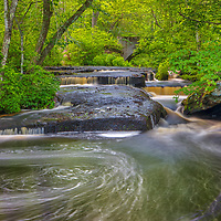 New England waterfall photography of the gorgeous Stepstone Falls in the Arcadia Management Area of Rhode Island. The Wood River plunges here over overhanging ledges and is the most famous and iconic in the Ocean State.<br /> <br /> Beautiful New England geology and waterfall photography of the Stepstone Falls are available as museum quality photography prints, canvas prints, acrylic prints, wood prints or metal prints. Fine art prints may be framed and matted to the individual liking and interior design decorating needs:<br /> <br /> https://juergen-roth.pixels.com/featured/stepstone-falls-in-west-greenwich-of-rhode-islandrhode-island-juergen-roth.html<br /> <br /> Good light and happy photo making!<br /> <br /> My best,<br /> <br /> Juergen