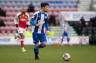 Wigan Athletic Corey Whelan during the EFL Sky Bet League 1 match between Wigan Athletic and Fleetwood Town at the DW Stadium, Wigan, England on 23 January 2021.