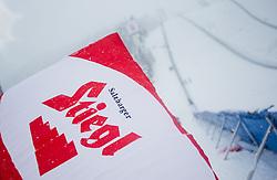 31.01.2016, Casino Arena, Seefeld, AUT, FIS Weltcup Nordische Kombination, Seefeld Triple, Skisprung, im Bild ein österreichische Flagge vor der Schanze // before the Competition Jump of Skijumping of the FIS Nordic Combined World Cup Seefeld Triple at the Casino Arena in Seefeld, Austria on 2016/01/31. EXPA Pictures © 2016, PhotoCredit: EXPA/ JFK