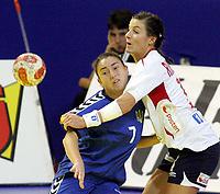 05.12.2008 Ohrid(FYR Macedonia)<br />Ukraine-Norway European women's handball championship<br />Riegelhuth Linn Kristin (R)Norway and Borshchenko Viktoriya (L) Ukraine <br />Foto:Aleksandar Djorovic