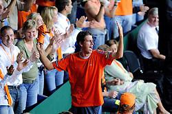 23-09-2006 TENNIS: DAVIS CUP: NEDERLAND - TSJECHIE: LEIDEN <br /> Robin Haase<br /> ©2006-WWW.FOTOHOOGENDOORN.NL
