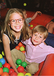 MISS LYDIA FORTE and MASTER CHARLES FORTE children of Sir Rocco Forte,  at a party in London on 12th June 1998.MIH 23