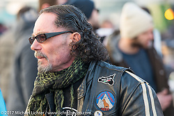 Despite a cool temperature of 40 degrees F / 4.5 C, the outside areas at Motor Bike Expo were packed with visitors enjoying the good food, drink and company. Verona, Italy. Saturday January 21, 2017. Photography ©2017 Michael Lichter.