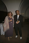 Karen Wright and Mark Rappolt , VIP opening of Bill Viola exhibition Love/Death: The Tristan project. Haunch of Venison, St Olave's College, Tooley St. London and Dinner afterwards at Banqueting House. Whitehall. 19 June 2006. ONE TIME USE ONLY - DO NOT ARCHIVE  © Copyright Photograph by Dafydd Jones 66 Stockwell Park Rd. London SW9 0DA Tel 020 7733 0108 www.dafjones.com