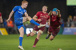 December 30, 2018 - Limerick, Ireland - Ciaran Frawley of Leinster and Tadhg Beirne of Munster during the Guinness PRO14 match between Munster Rugby and Leinster Rugby at Thomond Park in Limerick, Ireland on December 29, 2018  (Credit Image: © Andrew Surma/NurPhoto via ZUMA Press)