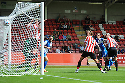Tom Lockyer of Bristol Rovers scores to make it 1-1 - Mandatory by-line: Dougie Allward/JMP - 25/07/2015 - SPORT - FOOTBALL - Cheltenham Town,England - Whaddon Road - Cheltenham Town v Bristol Rovers - Pre-Season Friendly