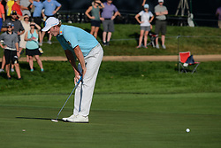 August 9, 2018 - Town And Country, Missouri, U.S - BRANDT SNEDEKER from Nashville Tennessee, USA  reacts to his putt stopping at the lip of the cup on green number 14 during round one of the 100th PGA Championship on Thursday, August 8, 2018, held at Bellerive Country Club in Town and Country, MO (Photo credit Richard Ulreich / ZUMA Press) (Credit Image: © Richard Ulreich via ZUMA Wire)