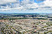 Nederland, Noord-Holland, Amsterdam, 27-09-2015; Oud-West, met onder andere Overtoombuurt, Borgerbuurt, Cremerbuurt en Kinkerbuurt. Helmersbuurt in de voorgrond, met Eerste Constantijn Huygensstraat en het WG terrein. Ring A-10, Nieuw West met Sloterplas aan de horizon<br /> Old western part of Amsterdam.<br /> luchtfoto (toeslag op standard tarieven);<br /> aerial photo (additional fee required);<br /> copyright foto/photo Siebe Swart