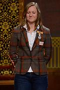 Officiele Huldiging van de Olympische medaillewinnaars Sochi 2014 / Official Ceremony of the Sochi 2014 Olympic medalists.<br /> <br /> Op de foto: Lotte van Beek krigt de onderscheiding van Ridder in de Orde van Oranje-Nassau
