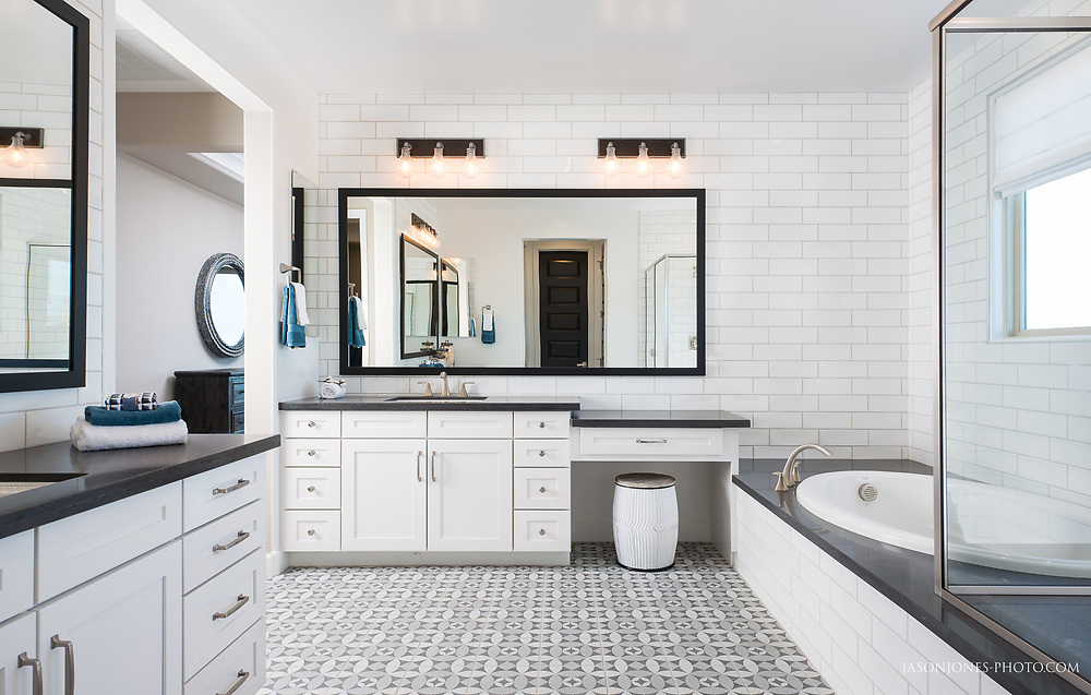Master bath photograph of residential interior design