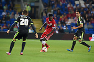 Bruno Ecuele Manga of Cardiff city ©  in action. Skybet football league championship match, Cardiff city v Middlesbrough at the Cardiff city stadium in Cardiff, South Wales on Tuesday 16th Sept 2014<br /> pic by Andrew Orchard, Andrew Orchard sports photography.