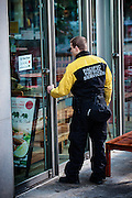 Pacific Patrol Services patrol officer on duty at store in Directors Park ensuring security