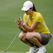 Mt. PLEASANT, SC, May 31, 2007:  Michelle Wie massages her wrist after she said she injured it while playing during the first round of the Ginn Tribute Hosted by Annika Sorrenstam in Mt. Pleasant, South Carolina on May 31, 2007. (Photo by Todd Bigelow/Aurora)