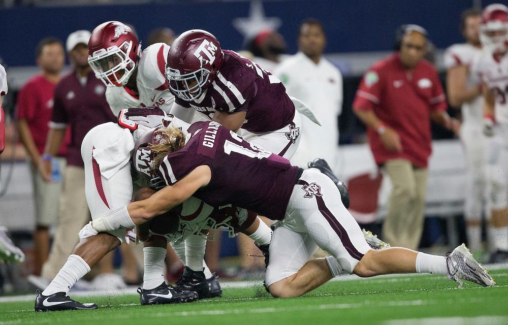 Texas A&M vs. Arkansas NCAA college football game Saturday, Sept. 24, 2016, in Arlington, Texas. (The Eagle/Sam Craft)