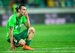 Denis Klinar of NK Olimpija after the 1st Leg football match between NK Olimpija Ljubljana (SLO) and FK AS Trenčin (SVK) in Second Qualifying Round of UEFA Champions League 2016/17, on July 13, 2016 in SRC Stozice, Ljubljana, Slovenia. Photo by Vid Ponikvar / Sportida