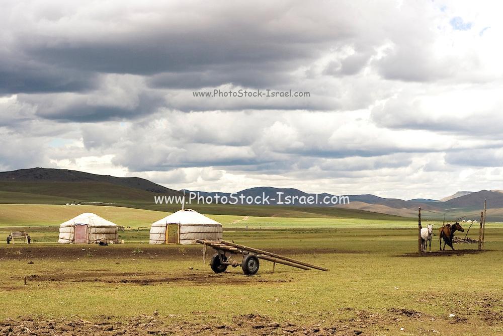 Mongolian dwellings, Gers Photographed in Mongolia