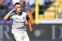 May 20, 2018 - France - Leandro Trossard forward of KRC Genk celebrates after scoring the 0-1 during the Jupiler Pro League play off 1 match (Credit Image: © Panoramic via ZUMA Press)